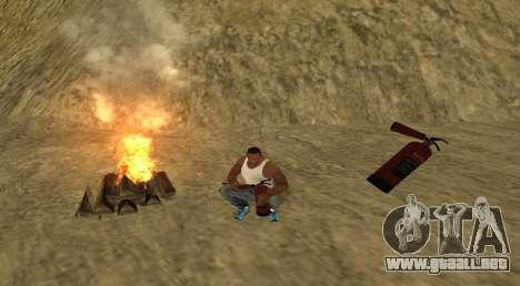 El fuego para GTA San Andreas segunda pantalla