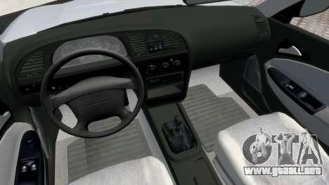 Daewoo Nubira II Sedan S PL 2000 para GTA 4 vista hacia atrás