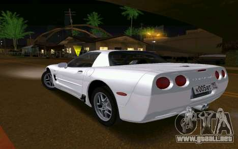 Chevrolet Corvette C5 2003 para GTA San Andreas vista posterior izquierda