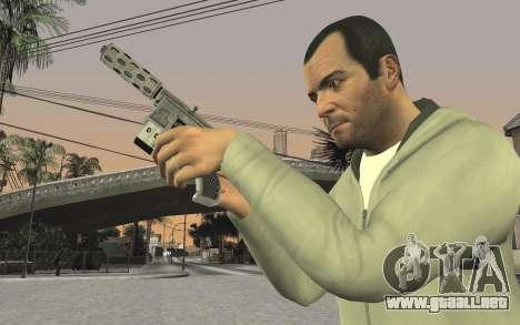 GTA 5 Tec-9 para GTA San Andreas octavo de pantalla