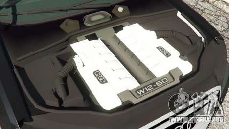 GTA 5 Audi A8 vista lateral derecha
