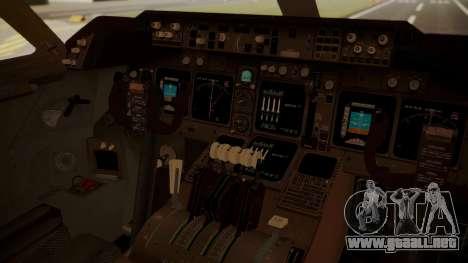 Boeing 747-8I Air India para GTA San Andreas vista hacia atrás