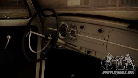 Volkswagen Beetle Aircooled para la visión correcta GTA San Andreas