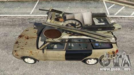 GTA 5 Daewoo Nubira I Wagon CDX US 1999 [Rusty] vista trasera