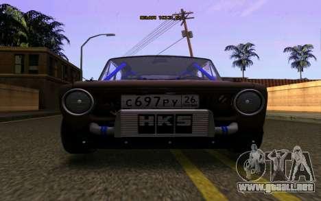 VAZ 2101 Coche para la visión correcta GTA San Andreas