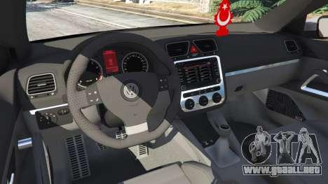 GTA 5 Volkswagen Scirocco [Beta] vista lateral trasera derecha