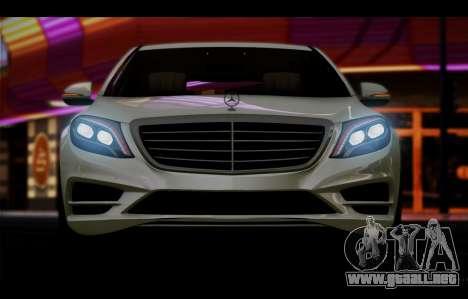 Mercedes Benz S63 W222 Artículos De Calidad para visión interna GTA San Andreas