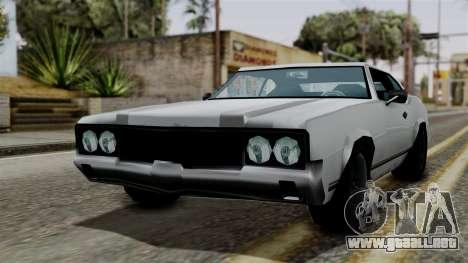 Sabre Turbo from Vice City Stories para GTA San Andreas vista posterior izquierda