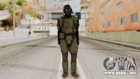 MGSV Ground Zero MSF Soldier para GTA San Andreas segunda pantalla