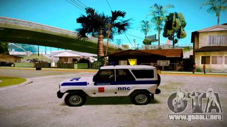 UAZ hunter Servicio PPP para GTA San Andreas left