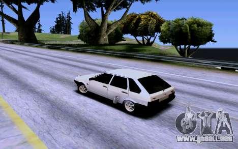 VAZ 2109 Turbo para vista inferior GTA San Andreas