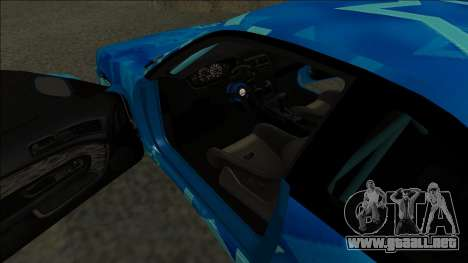 Nissan Silvia S14 Drift Blue Star para la visión correcta GTA San Andreas
