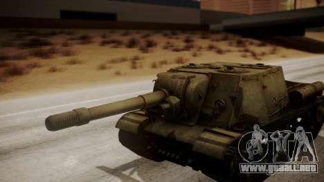 ISU-152 from World of Tanks para GTA San Andreas vista hacia atrás