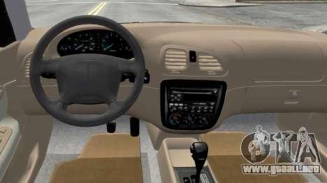 Daewoo Nubira I Sedan SX USA 1999 para GTA 4 vista interior