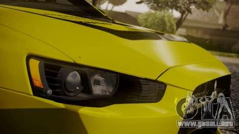 Mitsubishi Lancer Evolution X 2015 Final Edition para GTA San Andreas