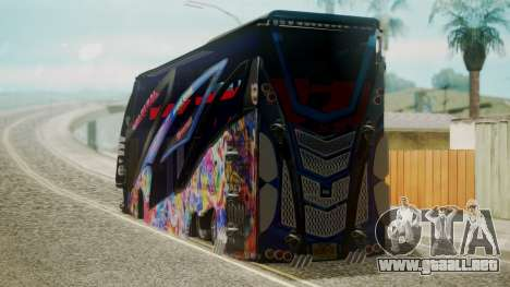 Bus in Thailand para GTA San Andreas left