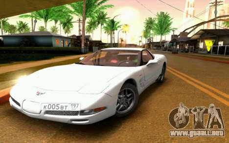 Chevrolet Corvette C5 2003 para la vista superior GTA San Andreas