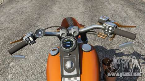 GTA 5 Harley-Davidson Fat Boy Lo Racing Bobber v1.2 vista lateral trasera derecha