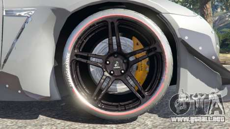 GTA 5 Nissan GT-R (R35) [RocketBunny] vista lateral trasera derecha