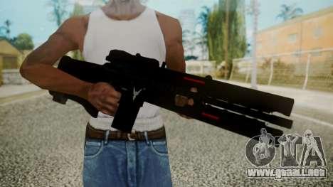 VXA-RG105 Railgun without Stripes para GTA San Andreas tercera pantalla