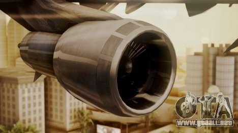 Boeing 747-100 Pan Am Clipper Juan T. Trippe para la visión correcta GTA San Andreas