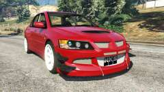 Mitsubishi Lancer Evolution IX Dk para GTA 5