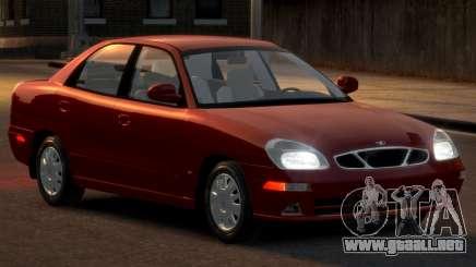 Daewoo Nubira II Sedan SX USA 2000 para GTA 4