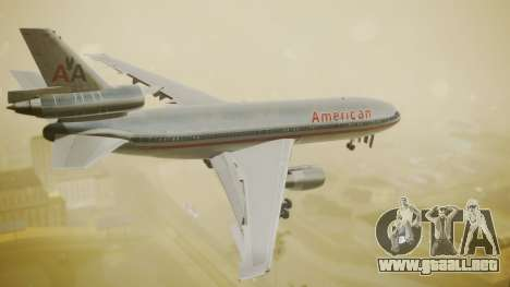 DC-10-10 American Airlines Luxury Liner para GTA San Andreas left