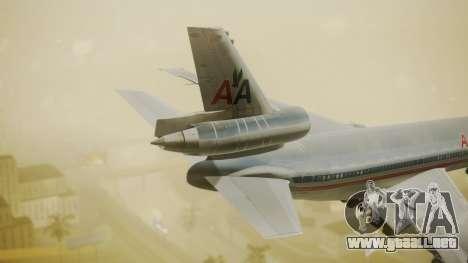 DC-10-10 American Airlines Luxury Liner para GTA San Andreas vista posterior izquierda