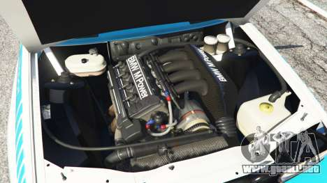 GTA 5 BMW M3 (E30) 1991 [Jeschke] v1.2 vista lateral trasera derecha