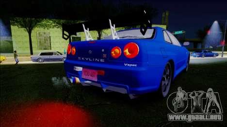 Nissan Skyline GT-R ESR Drift Tuning para la visión correcta GTA San Andreas