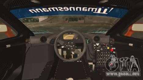 McLaren F1 GTR 1998 para GTA San Andreas vista hacia atrás