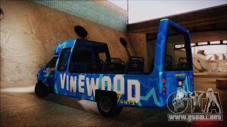 Vinewood VIP Star Tour Bus (Fixed) para GTA San Andreas left