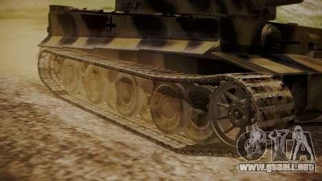 Panzerkampfwagen VI Tiger Ausf. H1 No Interior para GTA San Andreas vista posterior izquierda