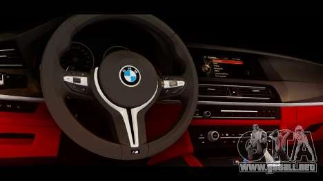 BMW M5 F10 Top Service MSK para la visión correcta GTA San Andreas