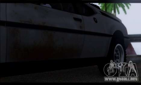 BMW M1 E26 Rusty Rebel para la vista superior GTA San Andreas