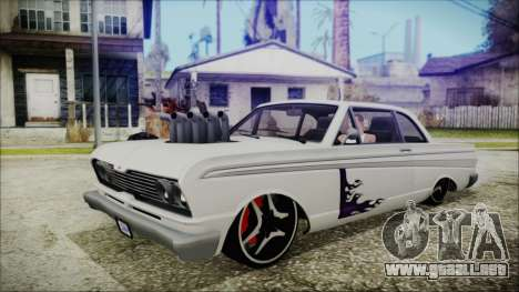 Blade Custom para GTA San Andreas vista posterior izquierda