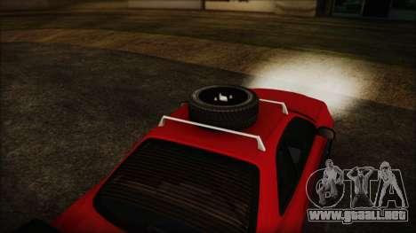 Nissan Skyline R34 Offroad Spec para la visión correcta GTA San Andreas