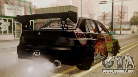 Mitsubishi Lancer Evolution Pushkar para GTA San Andreas left
