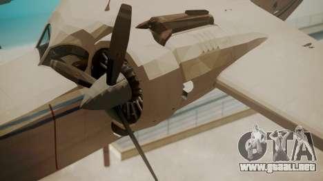 Grumman G-21 Goose WhiteBlueLines para la visión correcta GTA San Andreas