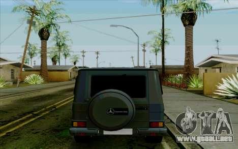 Mercedes-Benz G500 1999 para GTA San Andreas vista hacia atrás