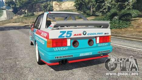 GTA 5 BMW M3 (E30) 1991 [Z5] v1.2 vista lateral izquierda trasera