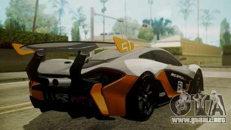 McLaren P1 GTR 2015 para GTA San Andreas left