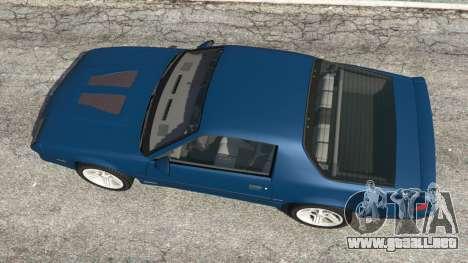 GTA 5 Chevrolet Camaro IROC-Z [Beta 3] vista trasera