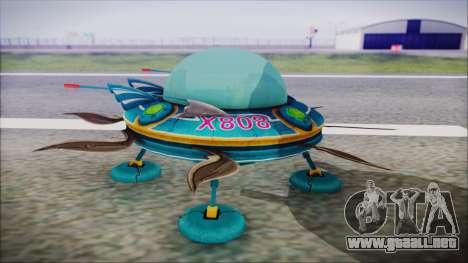 X808 UFO para la visión correcta GTA San Andreas