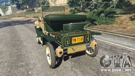 GTA 5 Ford Model T [one color] vista lateral izquierda trasera