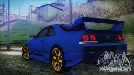 Nissan Skyline R33 Kantai Collection Kongou PJ para GTA San Andreas left