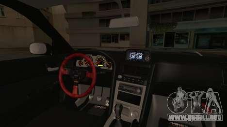 Nissan Skyline R34 Offroad Spec para GTA San Andreas vista hacia atrás