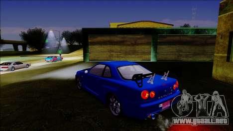 Nissan Skyline GT-R ESR Drift Tuning para GTA San Andreas vista posterior izquierda