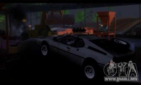 BMW M1 E26 Rusty Rebel para GTA San Andreas vista posterior izquierda